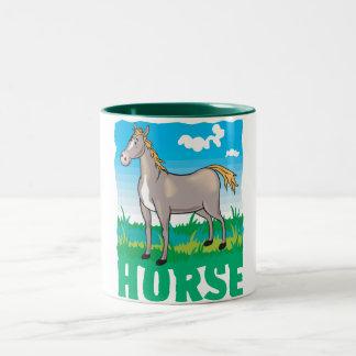 Kid Friendly Horse Two-Tone Coffee Mug