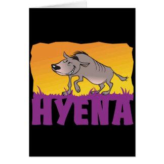 Kid Friendly Hyena Card