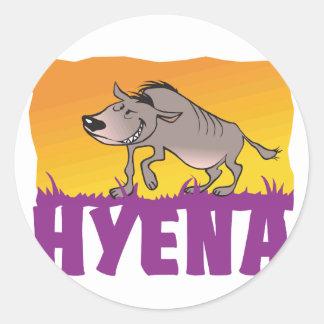 Kid Friendly Hyena Classic Round Sticker