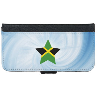 Kid Friendly Jamaica Flag Star iPhone 6/6s Wallet Case