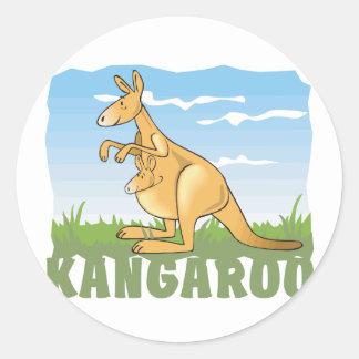 Kid Friendly Kangaroo Classic Round Sticker