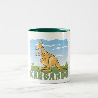 Kid Friendly Kangaroo Two-Tone Coffee Mug