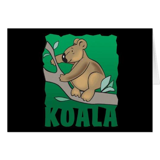 Kid Friendly Koala Bear Card