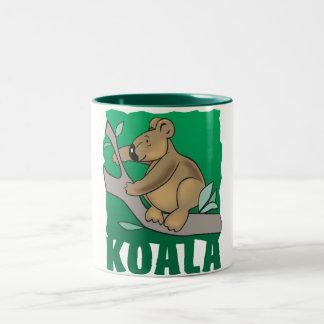 Kid Friendly Koala Bear Two-Tone Coffee Mug