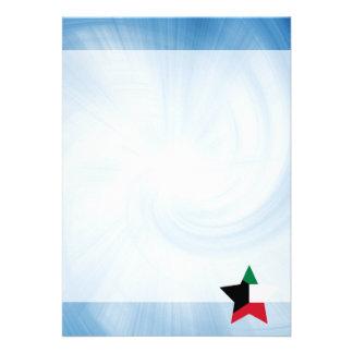 """Kid Friendly Kuwait Flag Star 5"""" X 7"""" Invitation Card"""