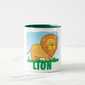 Kid Friendly Lion Two-Tone Coffee Mug