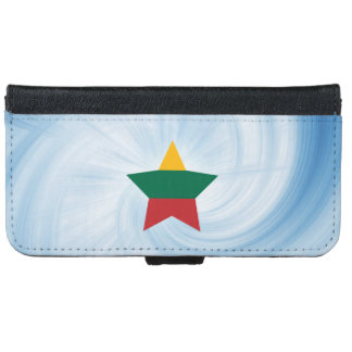 Kid Friendly Lithuania Flag Star iPhone 6/6s Wallet Case