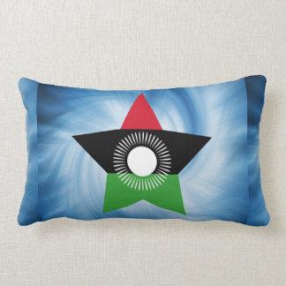 Kid Friendly Malawi Flag Star Throw Pillow