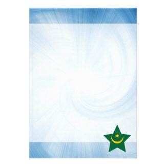"Kid Friendly Mauritania Flag Star 5"" X 7"" Invitation Card"