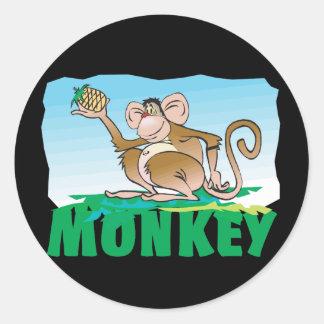 Kid Friendly Monkey Classic Round Sticker