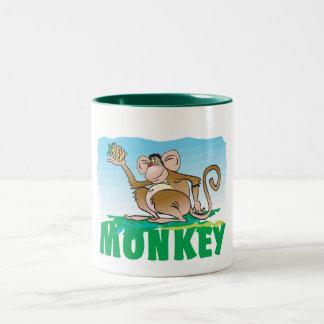 Kid Friendly Monkey Two-Tone Coffee Mug