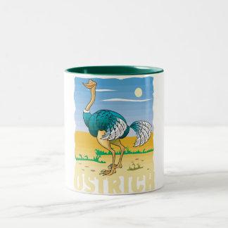 Kid Friendly Ostrich Two-Tone Coffee Mug
