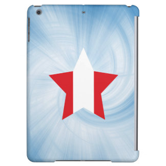 Kid Friendly Peru Flag Star iPad Air Case