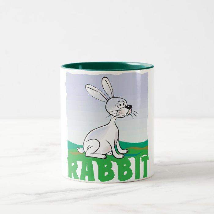 Kid Friendly Rabbit Two-Tone Coffee Mug