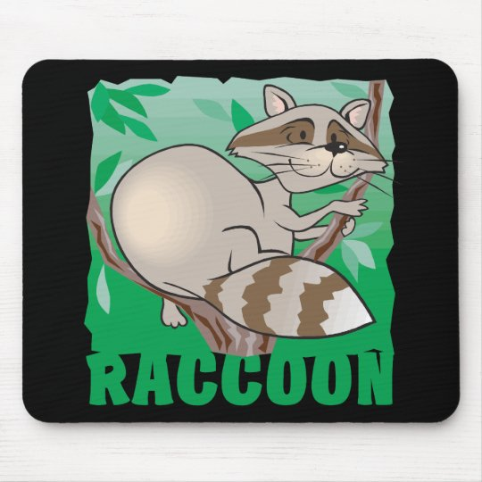 Kid Friendly Raccoon Mouse Pad