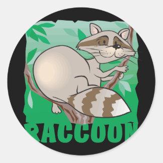 Kid Friendly Raccoon Classic Round Sticker