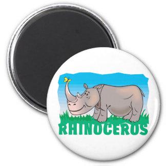 Kid Friendly Rhinoceros Magnets