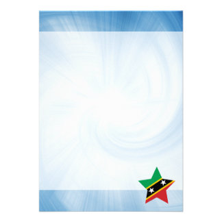 "Kid Friendly Saint Kitts and Nevis Flag Star 5"" X 7"" Invitation Card"