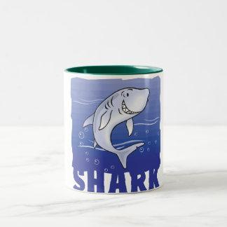 Kid Friendly Shark Two-Tone Coffee Mug
