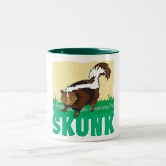Kid Friendly Skunk Two-Tone Coffee Mug
