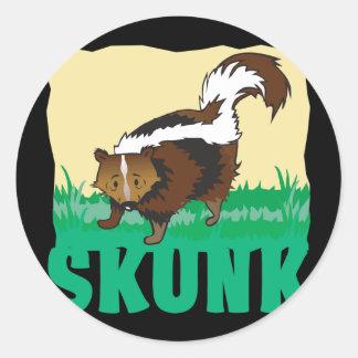 Kid Friendly Skunk Classic Round Sticker