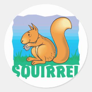 Kid Friendly Squirrel Classic Round Sticker