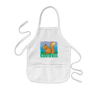 Kid Friendly Squirrel Kids' Apron