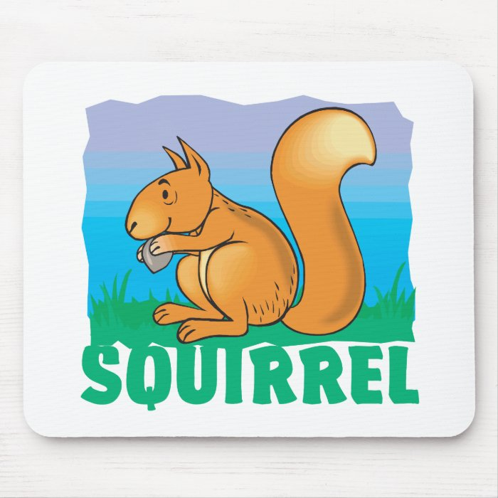 Kid Friendly Squirrel Mouse Pad