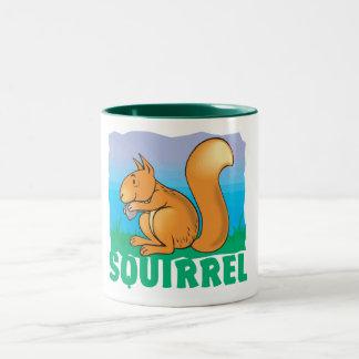 Kid Friendly Squirrel Two-Tone Coffee Mug
