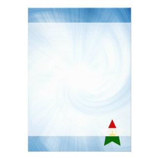 """Kid Friendly Tajikistan Flag Star 5"""" X 7"""" Invitation Card"""