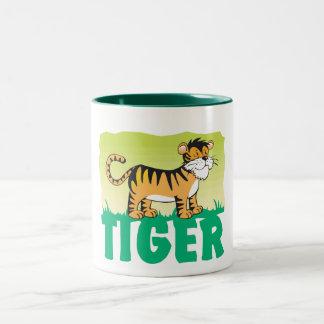 Kid Friendly Tiger Two-Tone Coffee Mug