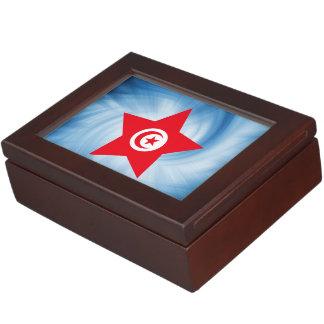 Kid Friendly Tunisia Flag Star Memory Box