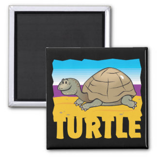 Kid Friendly Turtle 2 Inch Square Magnet