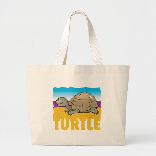 Kid Friendly Turtle Large Tote Bag