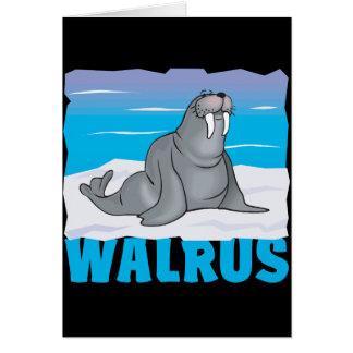 Kid Friendly Walrus Greeting Card