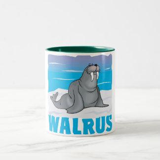 Kid Friendly Walrus Two-Tone Coffee Mug