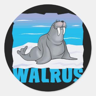 Kid Friendly Walrus Classic Round Sticker
