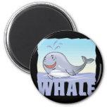 Kid Friendly Whale Fridge Magnet