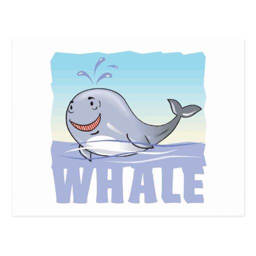 Kid Friendly Whale Post Card