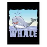 Kid Friendly Whale Postcards