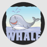 Kid Friendly Whale Round Stickers