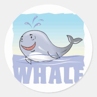 Kid Friendly Whale Classic Round Sticker