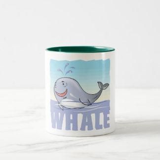 Kid Friendly Whale Two-Tone Coffee Mug