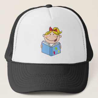 Kid Girl Reading A Book Trucker Hat