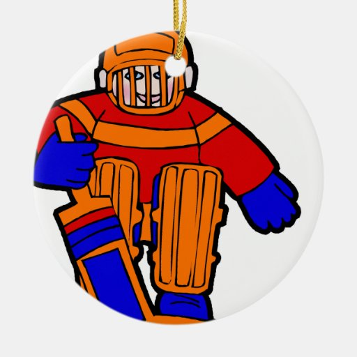 Kid Goalie Double-Sided Ceramic Round Christmas Ornament