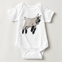 Kid Goat Baby Bodysuit
