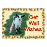 Kid Goat Get Well--customize any occasion & anyone Greeting Card