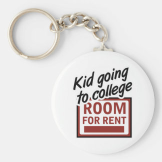 Kid Going to College Room For Rent Keychain