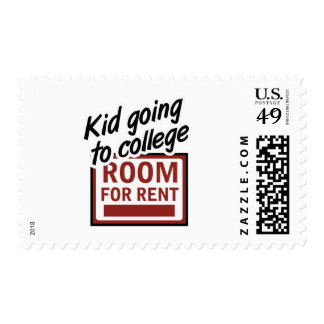 Kid Going to College Room For Rent Postage Stamp