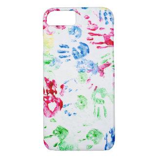 kid hand print paint pattern iPhone 8/7 case